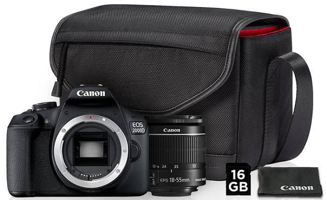 Canon EOS 2000D + EF-S 18-55mm f/3.5-5.6 IS II Value-up kit