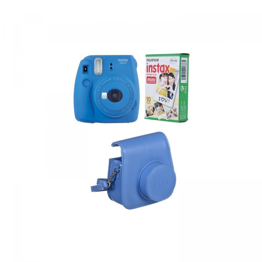 Fujifilm Instax Mini 9 BOX, modrý +20 fotografií + puzdro
