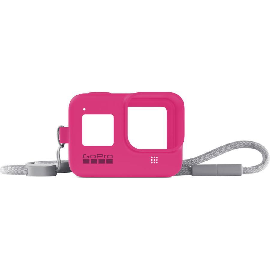 GoPro Sleeve + Lanyard ružový (gumený obal a putko na krk) HERO8
