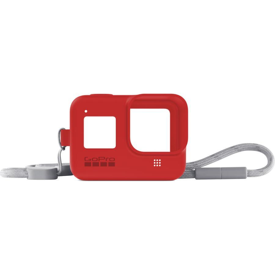 GoPro Sleeve + Lanyard červený (gumený obal a putko na krk) HERO8