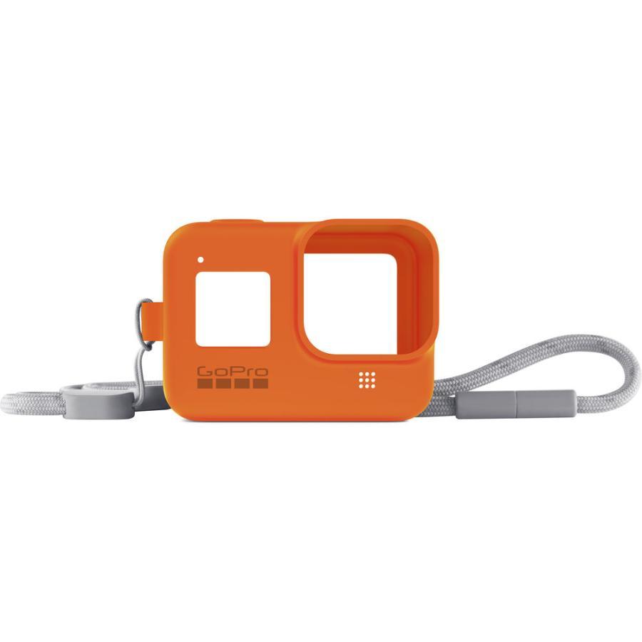 GoPro Sleeve + Lanyard oranžový (gumený obal a putko na krk) HERO8