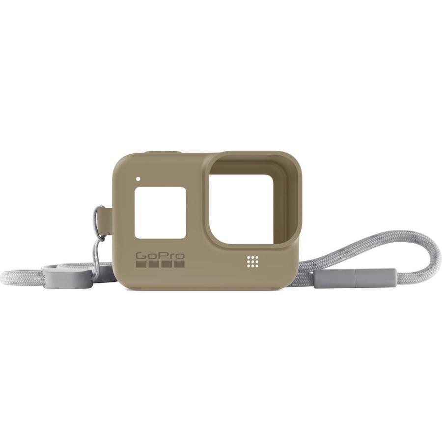 GoPro Sleeve + Lanyard pieskový (gumený obal a putko na krk) HERO8