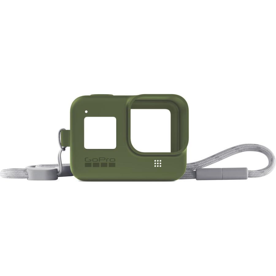 GoPro Sleeve + Lanyard zelený (gumený obal a putko na krk) HERO8
