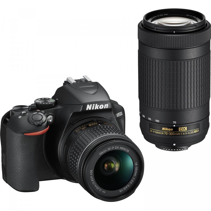 Nikon D3500 + AF-P DX 18-55mm VR + 70-300mm VR, +4x čistenie a fotokurz