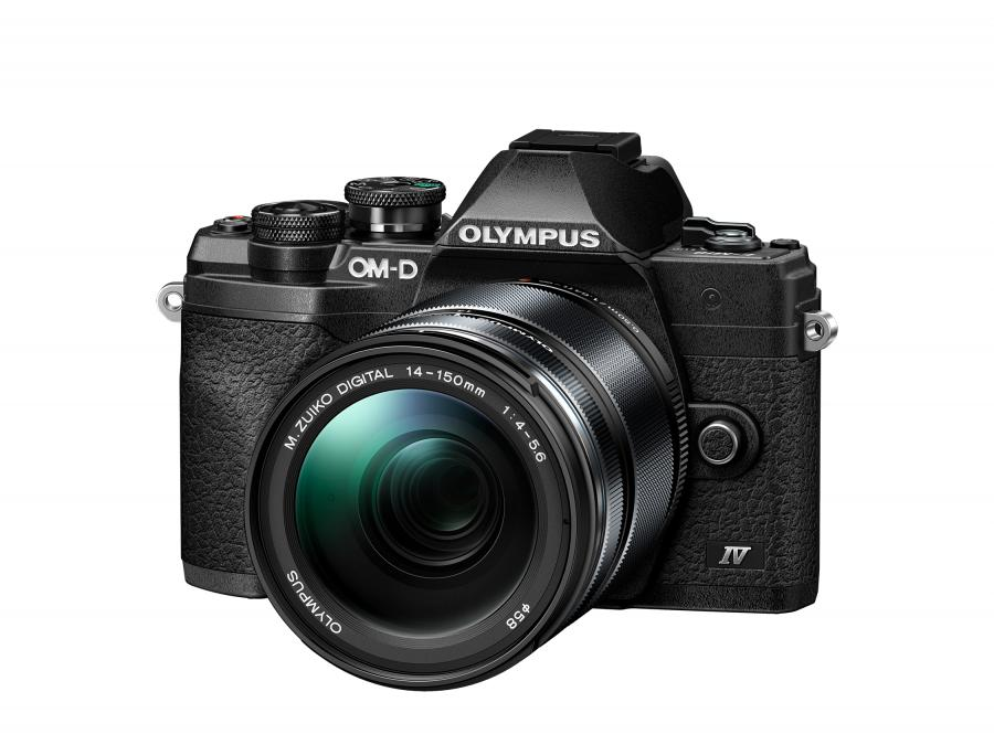 Olympus OM-D E-M10 Mk. IV + M.ZD ED 14-150 mm f/4.0-5.6 R ll Čierny
