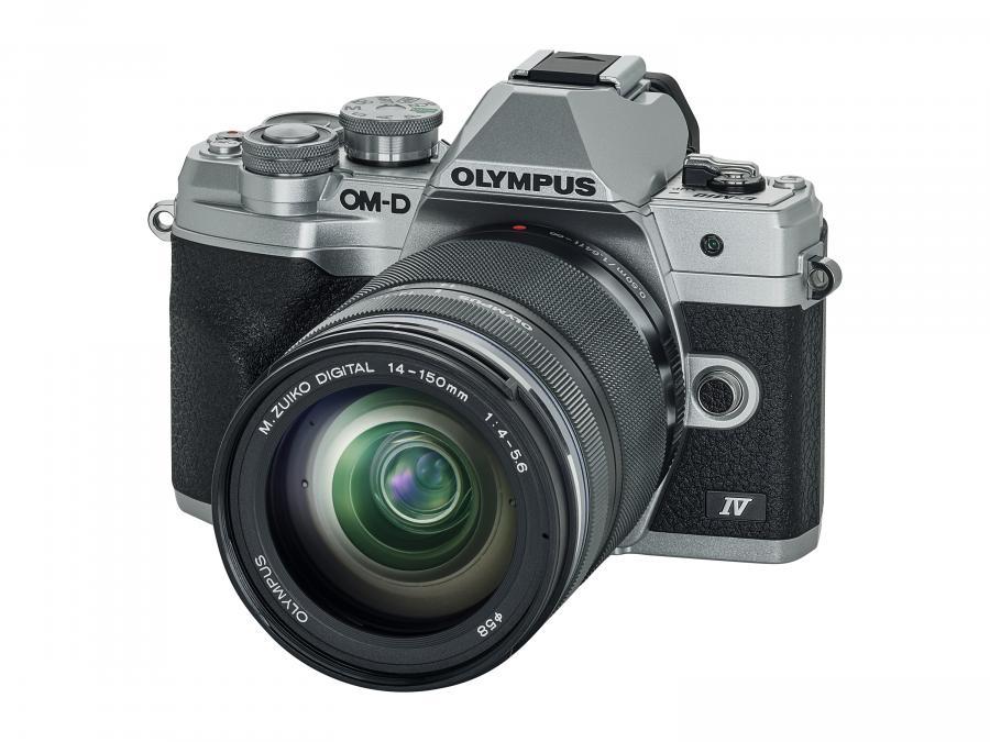 Olympus OM-D E-M10 Mk. IV + 14-150 mm f/4.0-5.6 R ll Strieborný