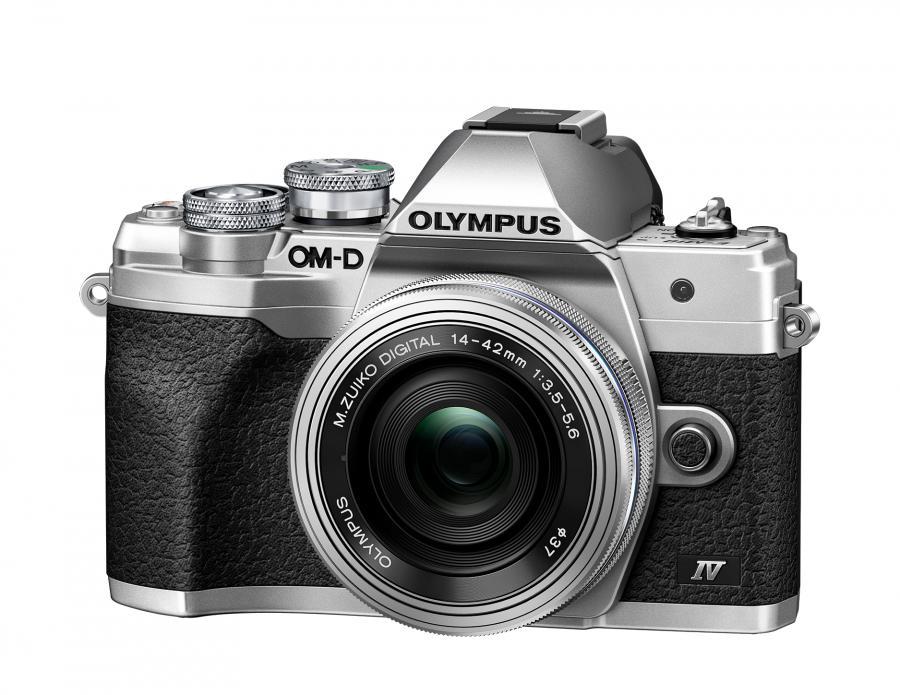 Olympus OM-D E-M10 Mk. IV + 14-42mm f/3.5-5.6 Pancake, Strieborný