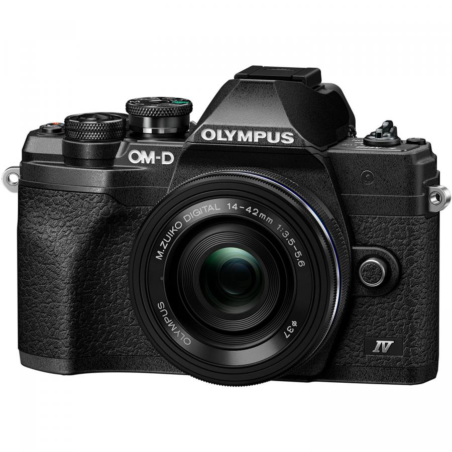Olympus OM-D E-M10 Mk. IV + 14-42mm f/3.5-5.6 EZ MSC Pancake, Čierny