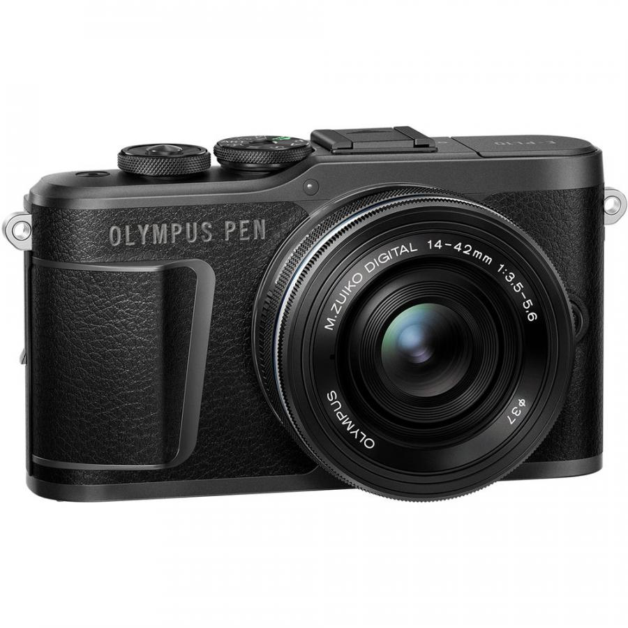 Olympus PEN-EPL10 + M Zuiko 14-42mm f/3.5-5.6 EZ ED MSC Pancake, Čierny