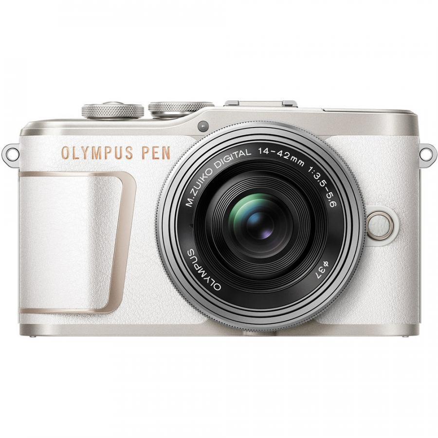 Olympus PEN-EPL10 + M Zuiko 14-42mm f/3.5-5.6 EZ ED MSC Pancake, Biely