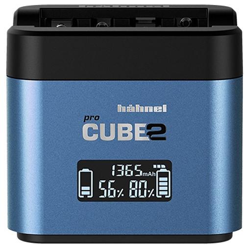 Hähnel Procube 2 Profesionálna duálna nabíjačka Hähnel, Fujifilm/ Panasonic - blue