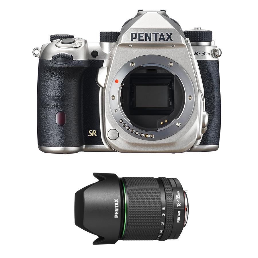 Pentax K-3 Mk. III + DA 18-135mm f/3,5-5,6 WR strieborný - 149 € Trade-In bonus