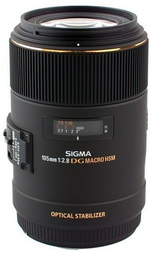 Sigma 105mm f/2.8 EX DG OS HSM Macro, baj. Canon