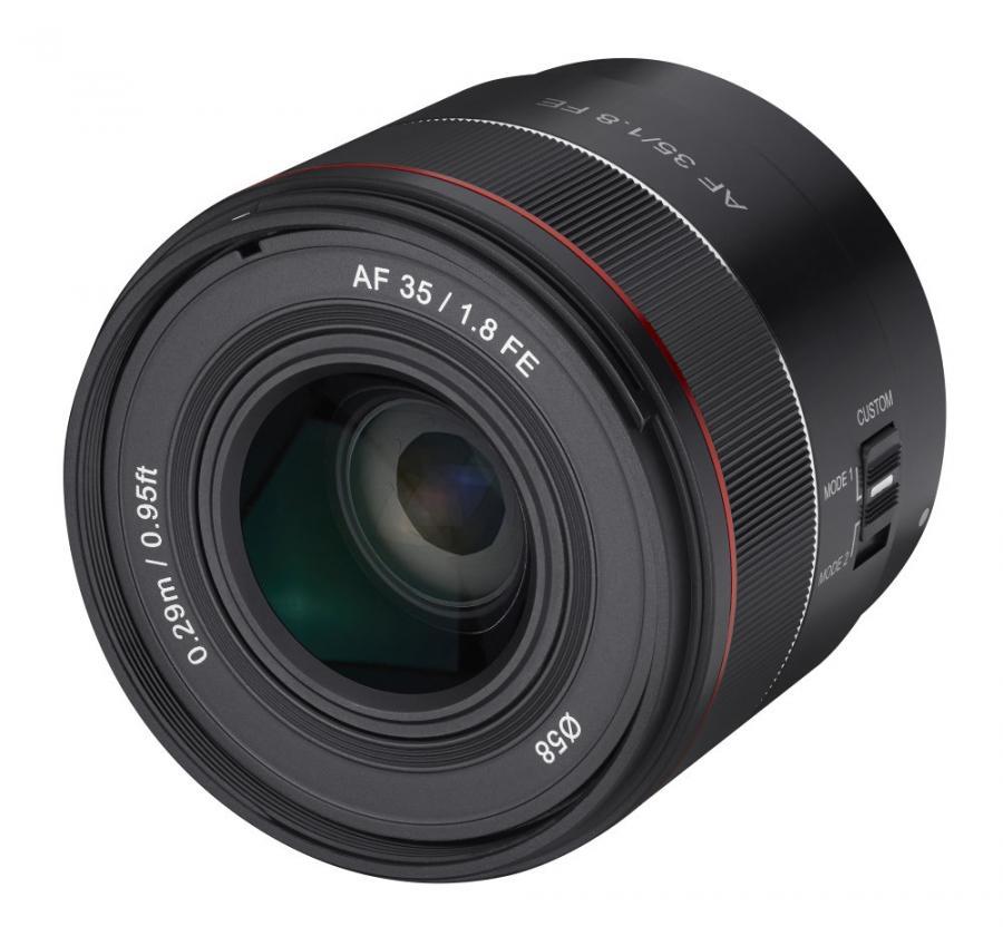 Samyang AF 35mm f/1.8 FE, baj. Sony E pre Sony FE