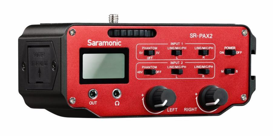 Saramonic SR-PAX2 dvojkanálový audio adaptér