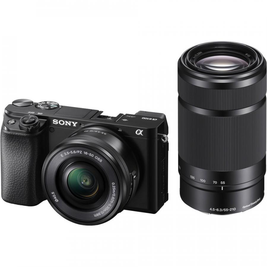 Sony Alpha A6100 + Sony E 16-50 f/3,5-5,6 PZ OSS + Sony E 55-210 f/4.5-6.3 OSS