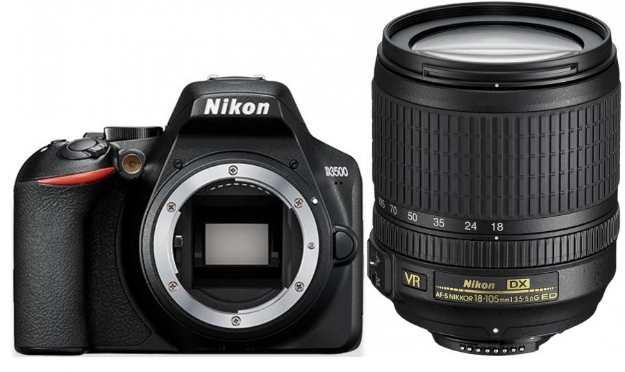 Nikon D3500 + AF-S DX Nikkor 18-105f/3.5-5.6G ED VR + 4x Čistenie a fotokurz