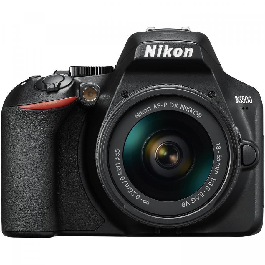 Nikon D3500 + AF-P DX 18-55mm f/3.5-5.6G, Čierny