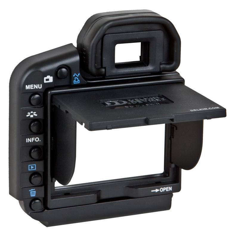 Delkin Slnečná clona LCD pre Canon Eos 5D Mark II