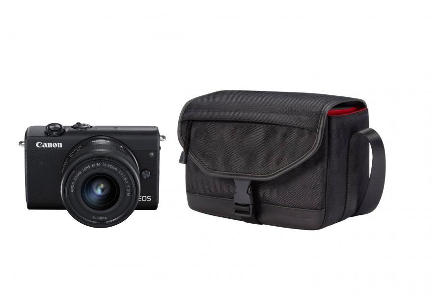 Canon EOS M200 + EF-M 15-45mm F3.5-6.3 IS STM + Brašna Canon CB-SB130 Čierny kit