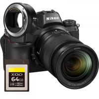 Nikon Z7 + Nikkor Z 24-70mm f/4 S + FTZ adaptér kit + 64GB XQD