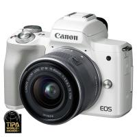 Canon EOS M50 + EF-M 15-45mm f/3.5-6.3 IS STM Biely  CASHBACK 50 €