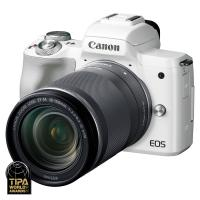 Canon EOS M50 + EF-M 18-150mm f/3.5-6.3 IS STM, Biely kit  CASHBACK 50 €