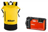 Nikon Coolpix W300 Holiday Kit, Oranžový