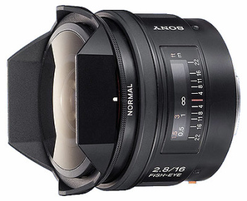Sony A 16mm f/2.8 Fisheye (Full Frame, A-Mount)