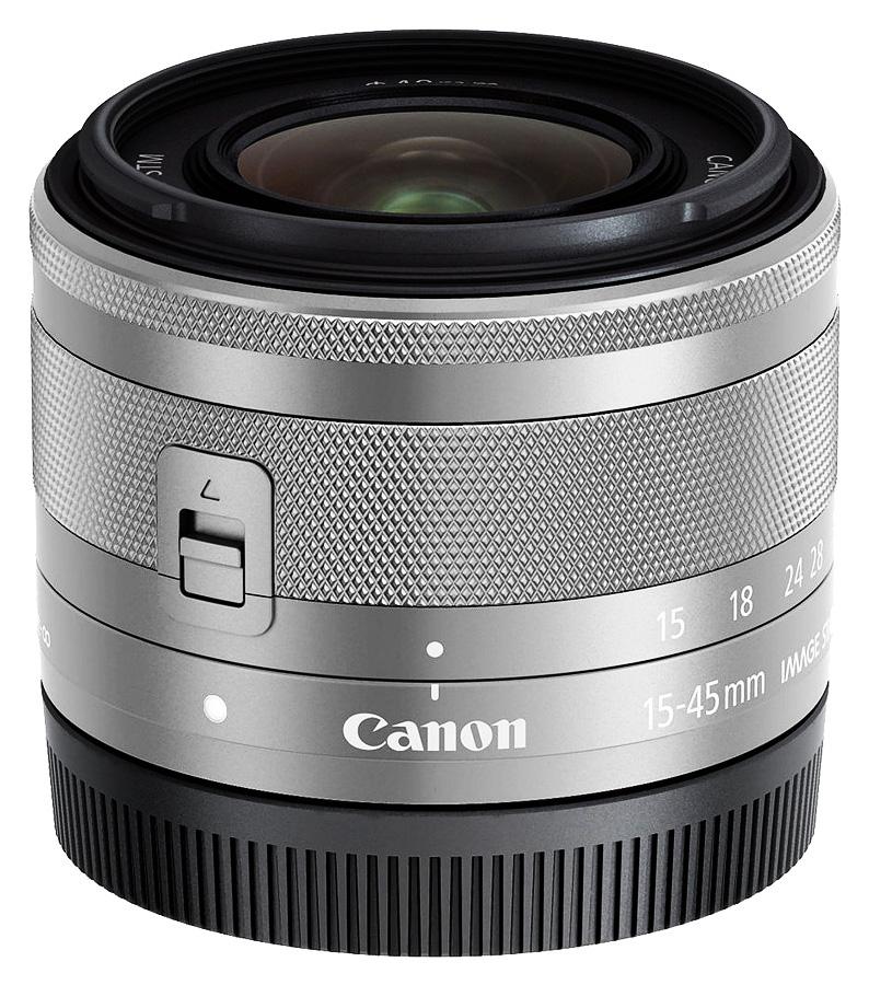 Canon EF-M 15-45mm f/3.5-6.3 IS STM, Strieborný