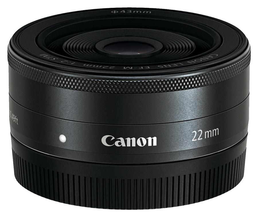 Canon EF-M 22mm f/2 STM, Čierny