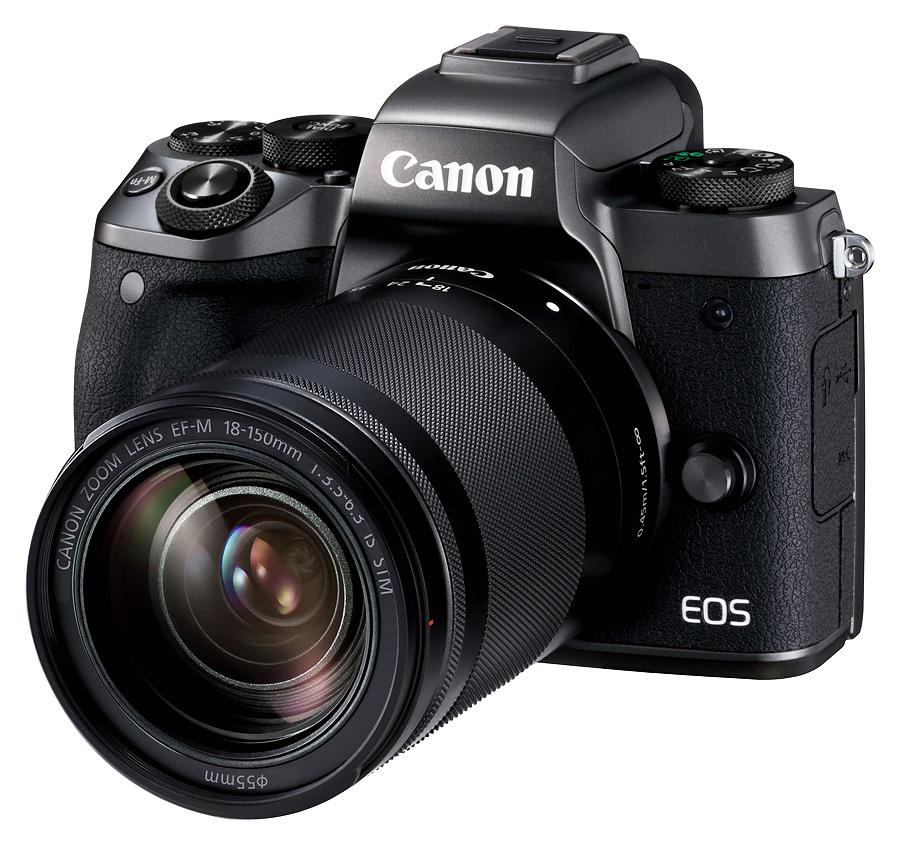 Canon EOS M5 + EF-M 18-150mm f/3.5-6.3 IS STM, Čierny