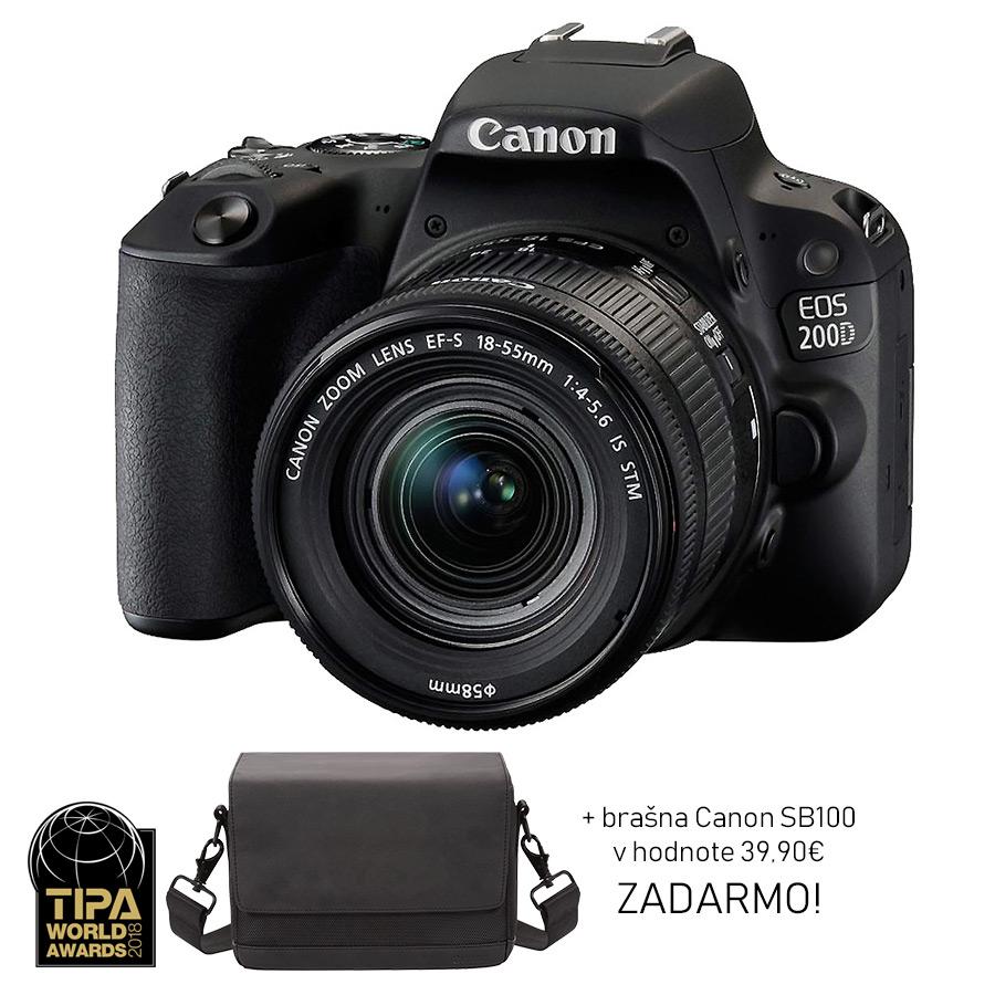 Canon EOS 200D + EF-S 18-55mm f/4-5.6 IS STM + brašna ZADARMO