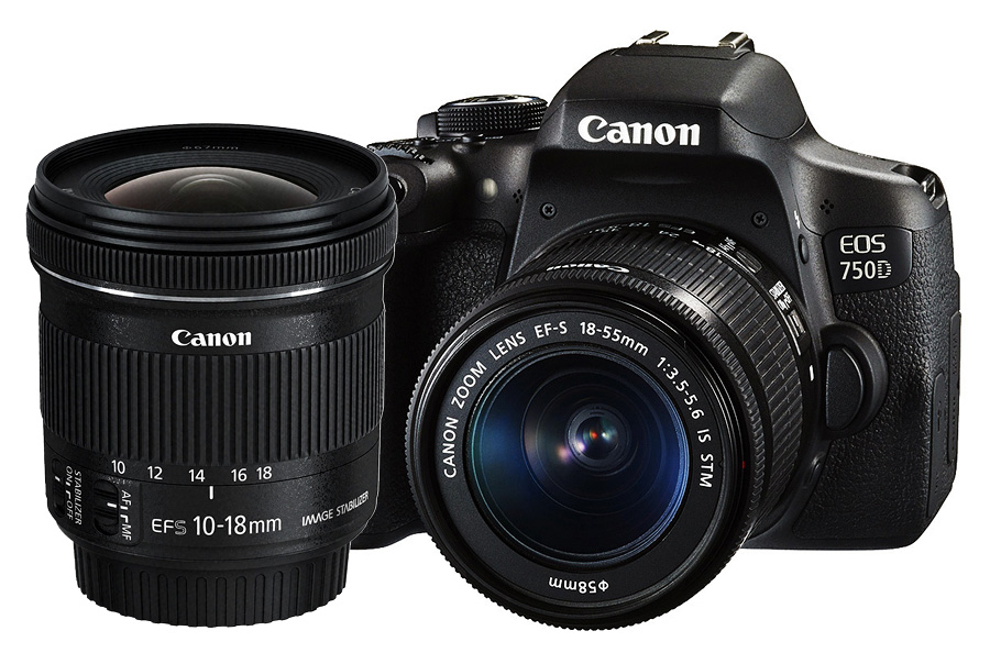 Canon EOS 750D + EF-S 18-55mm f/3.5-5.6 IS STM + EF-S 10-18mm f/4.5-5.6 IS STM