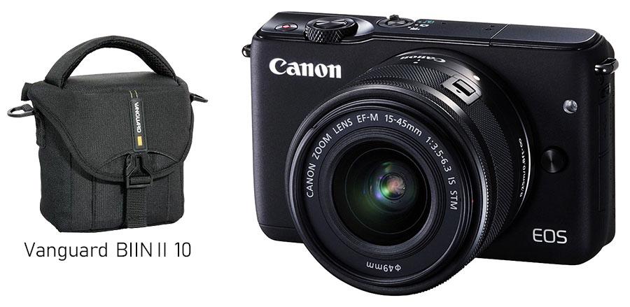 Canon EOS M10 + EF-M 15-45mm f/3.5-6.3 IS STM, Čierny kit + brašna ZADARMO