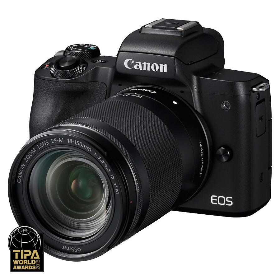 Canon EOS M50 + EF-M 18-150mm f/3.5-6.3 IS STM, Čierny kit