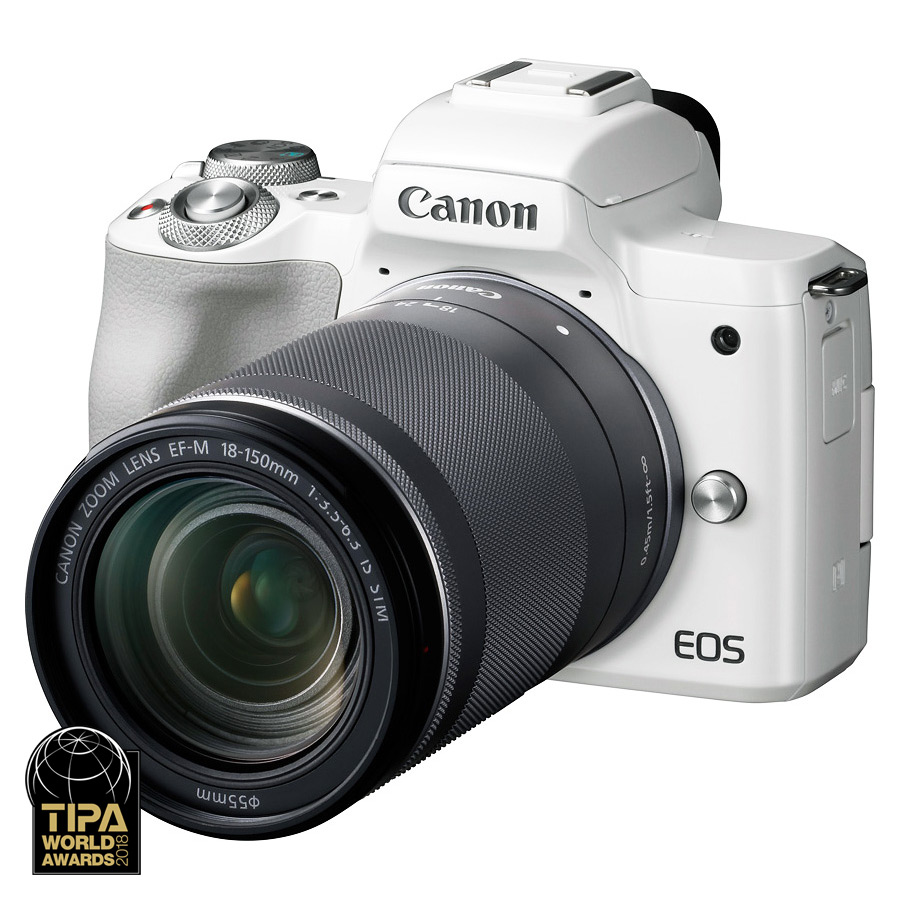 Canon EOS M50 + EF-M 18-150mm f/3.5-6.3 IS STM, Biely kit