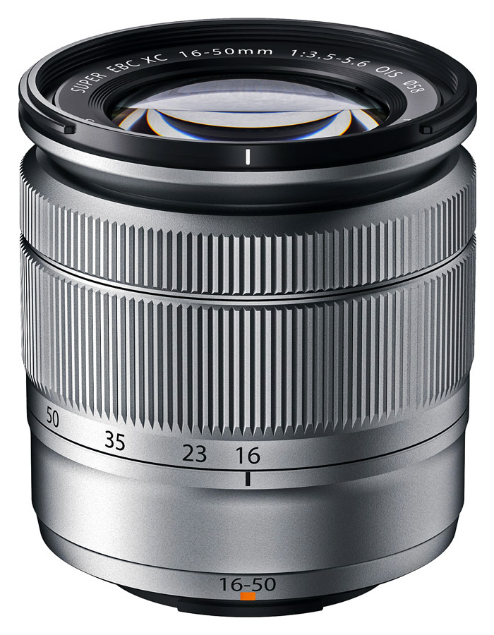 Fujifilm Fujinon XC 16-50mm f/3.5-5.6 OIS, Strieborný