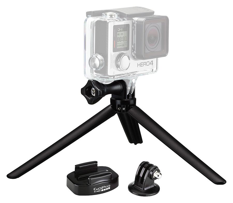 6063b2e4d GoPro Tripod Mount + Mini Tripod je praktický set statívového adaptéra pre  uchytenie akčných videokamier GoPro na akýkoľvek statív, rýchloupínacieho  držiaka ...