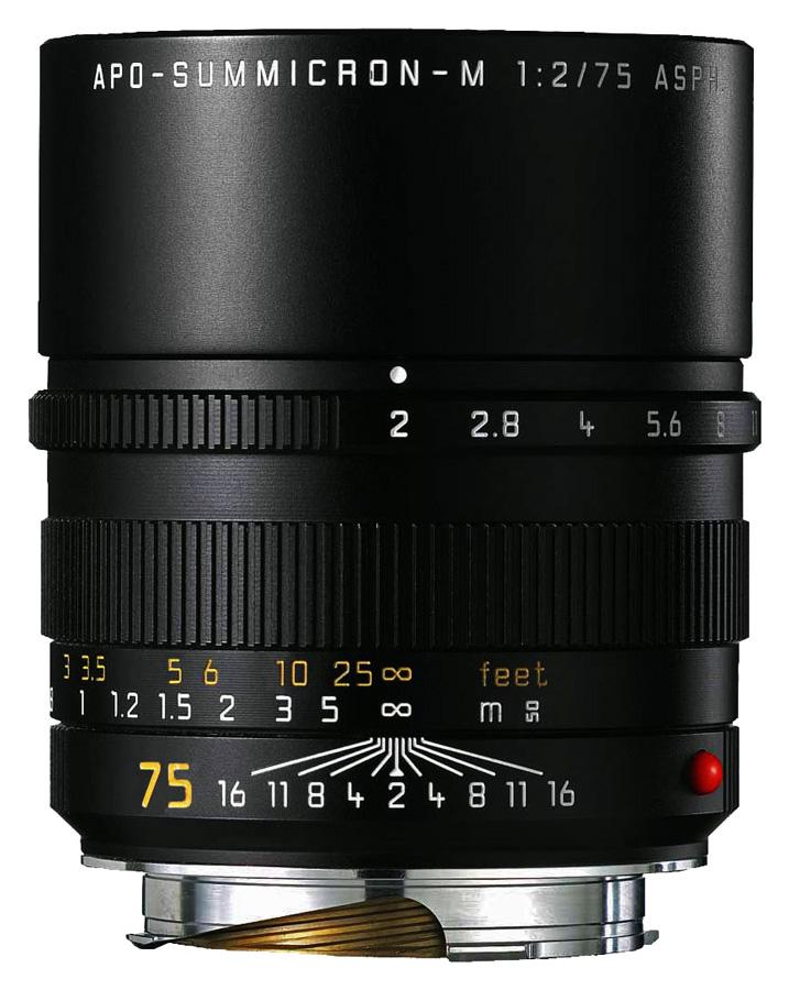 Leica APO-SUMMICRON-M 75mm f/2.0 ASPH, Čierny