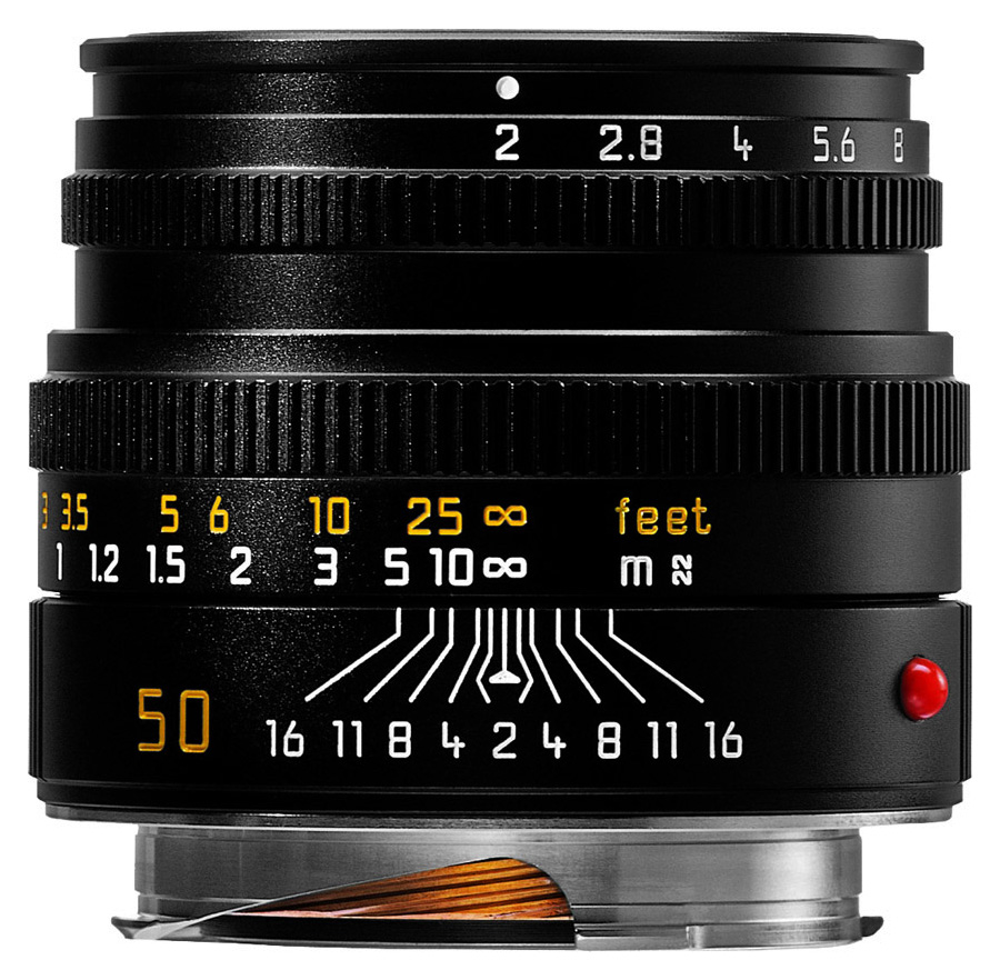 Leica SUMMICRON-M 50mm f/2.0, Čierny