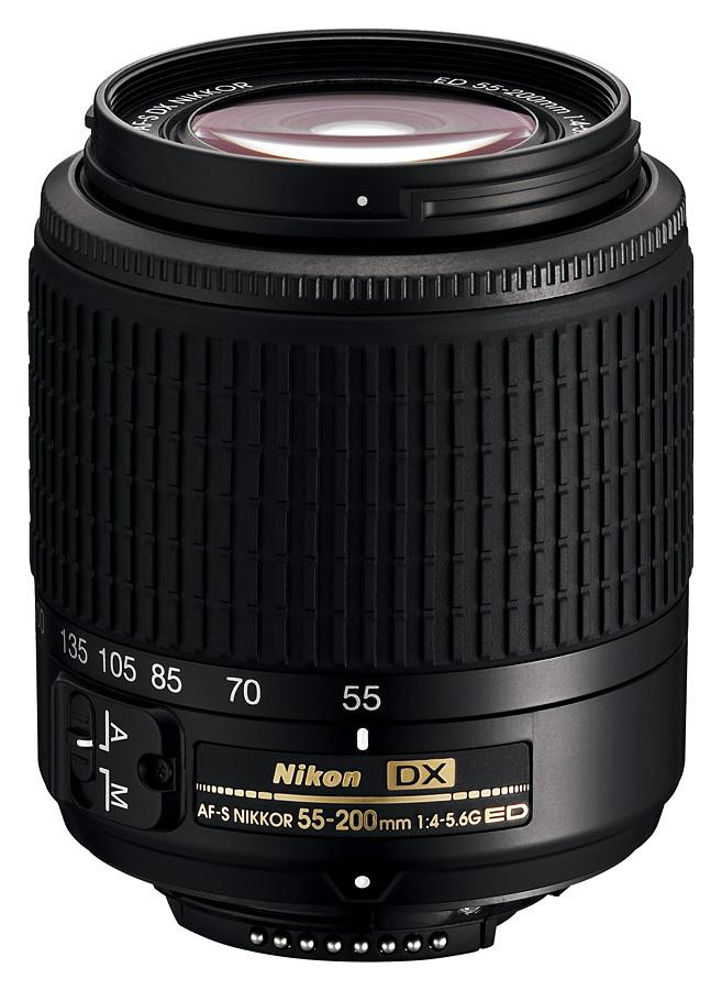 Nikon AF-S DX Nikkor 55-200mm f/4-5.6G ED Čierny