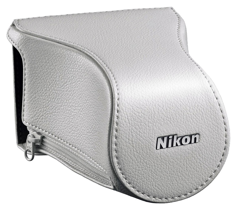Nikon CB-N2200FA Kožené puzdro pre fotoaparát Nikon 1 J3/S1 + 10-30mm, Biele