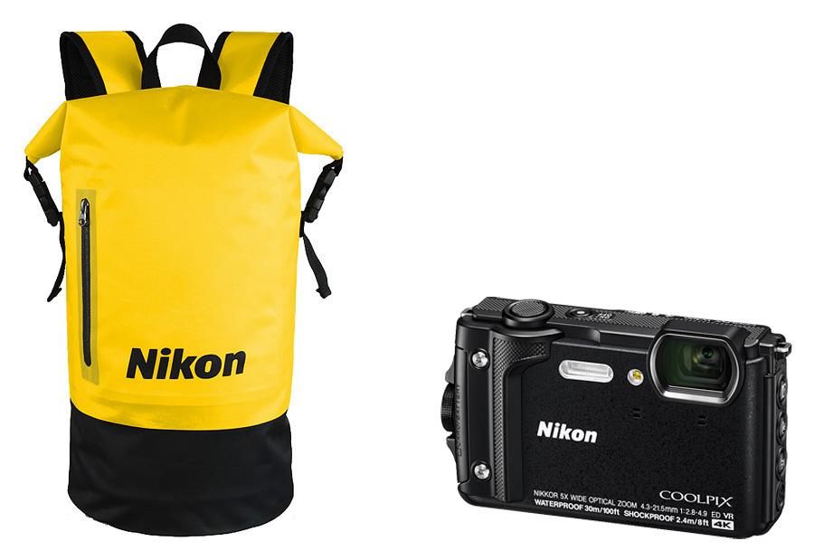 Nikon Coolpix W300 Holiday Kit, Čierny