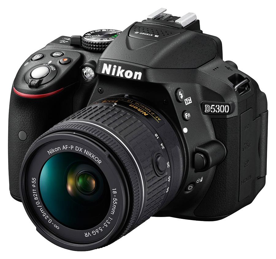 Nikon D5300 + AF-P DX Nikkor 18-55mm f/3.5-5.6G VR, Čierny kit