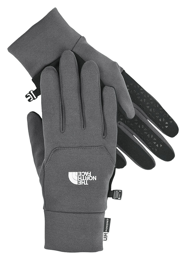 North Face Etip Glove M Medium Grey Pánske rukavice, Šedé