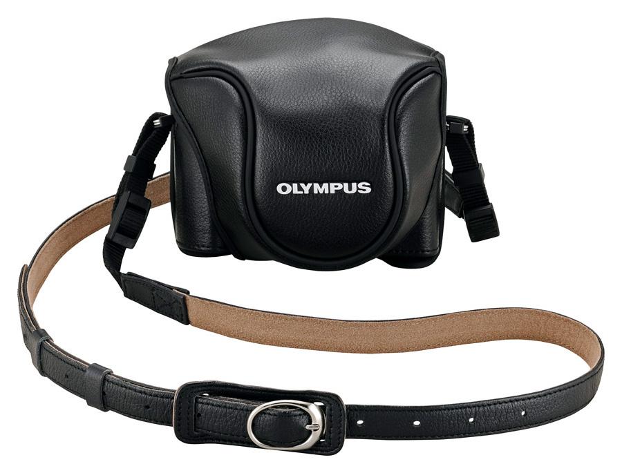 Olympus CSCH-118 Kožené puzdro pre Olympus Stylus 1, Čierne