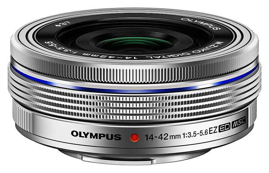 Olympus M. Zuiko Digital ED 14-42mm f/3.5-5.6 EZ MSC Pancake, Strieborný