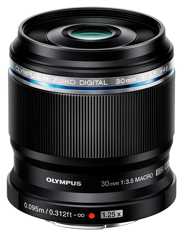 Olympus M. Zuiko Digital ED 30mm f/3.5 Macro, Čierny