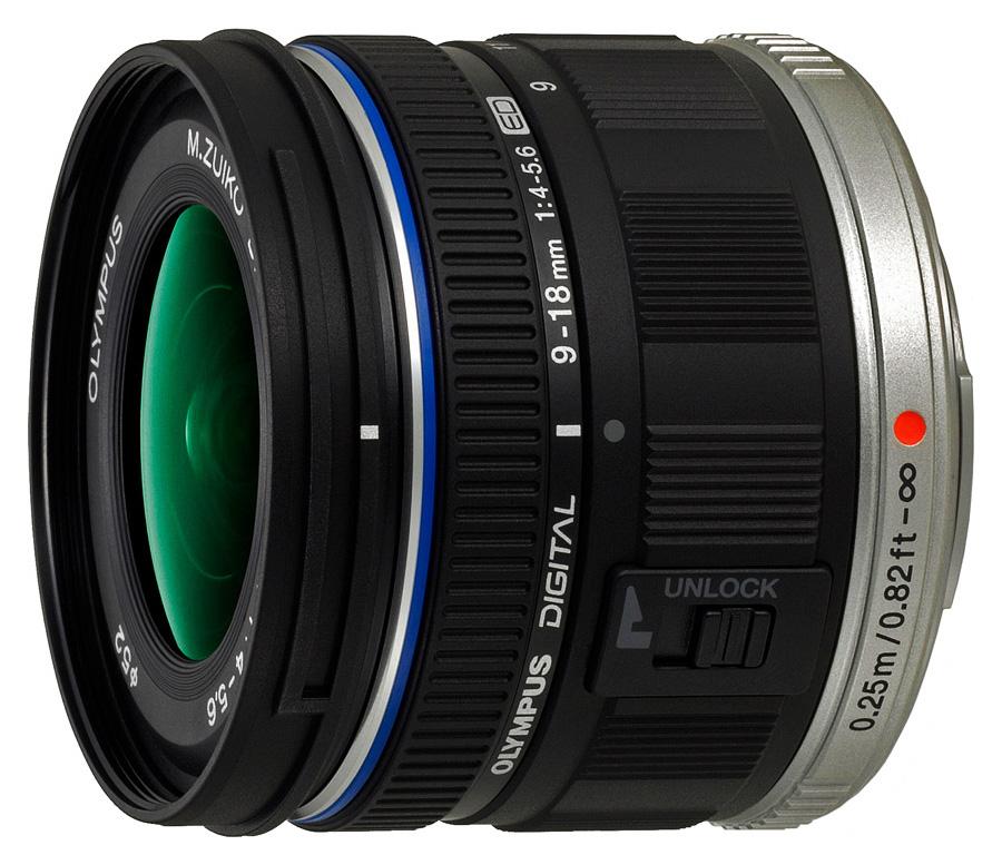 Olympus M. Zuiko Digital ED 9-18mm f/4.0-5.6, Čierny